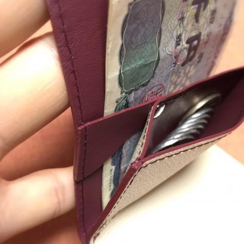 小さい財布 特許出願中のつなぎ目