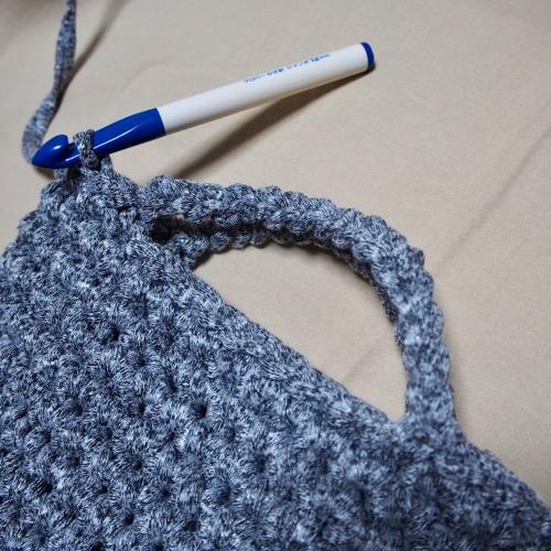 細編み再開