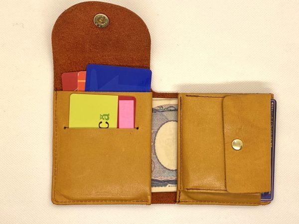 栃木レザー財布 内側