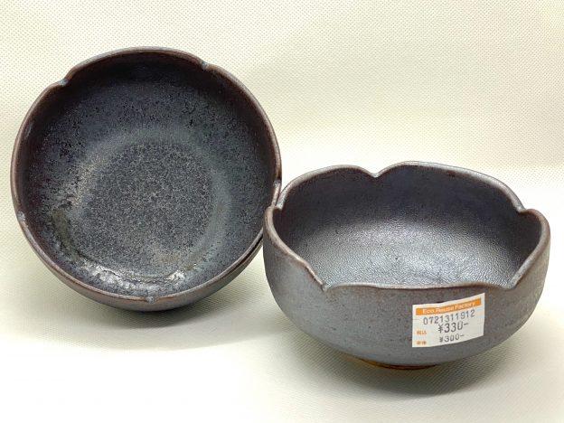 シルバーの釉薬の小鉢