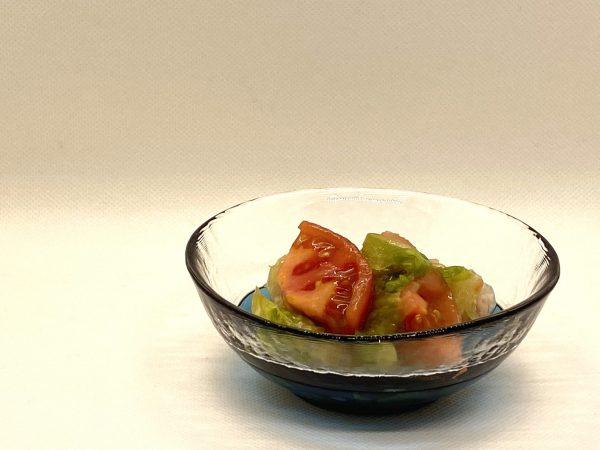 トマトとレタスの和え物 映え写真